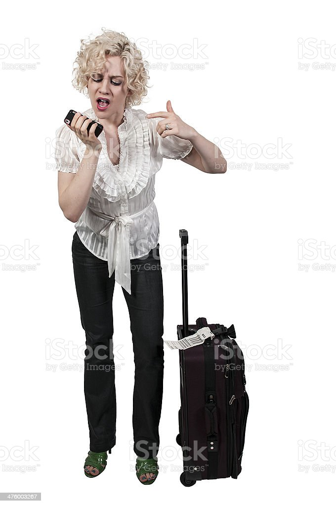 Angry Woman on the Phone royalty-free stock photo