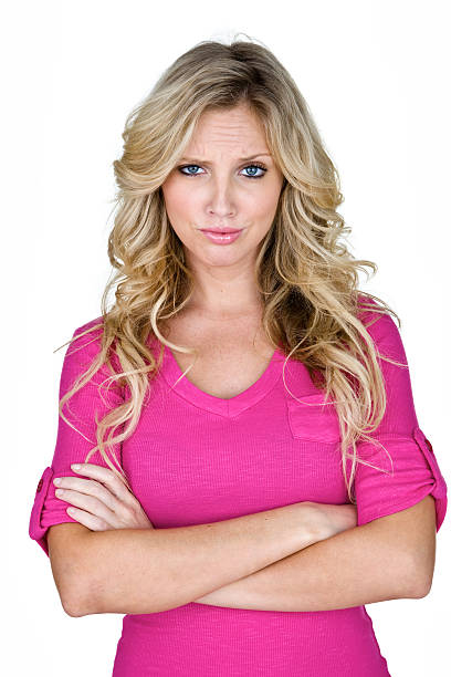 angry woman - stupidblonde stock pictures, royalty-free photos & images