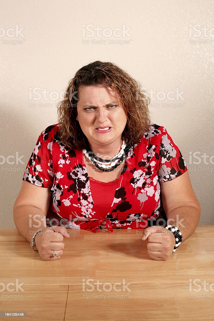 Angry Woman stock photo