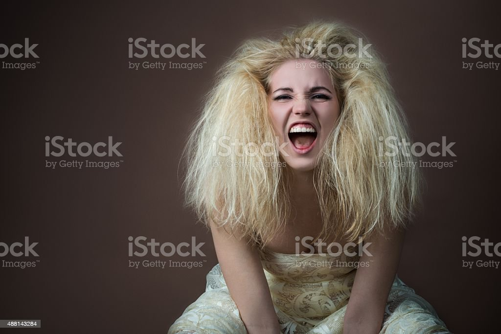 Mujer enojada - foto de stock