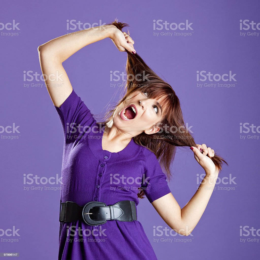 Angry woman royalty free stockfoto