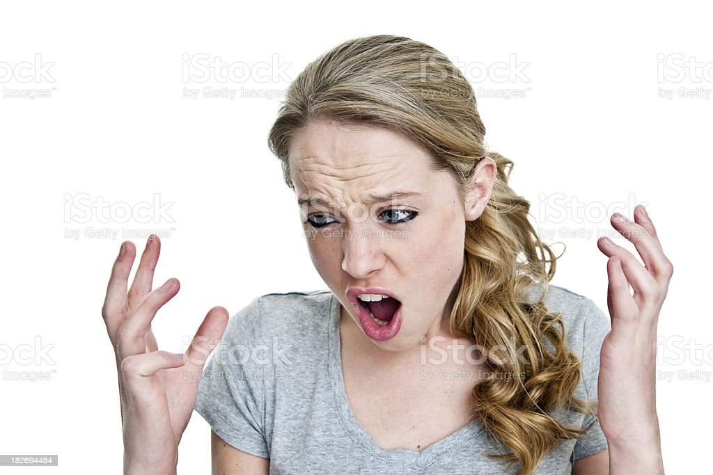 Angry woman screaming royalty-free stock photo
