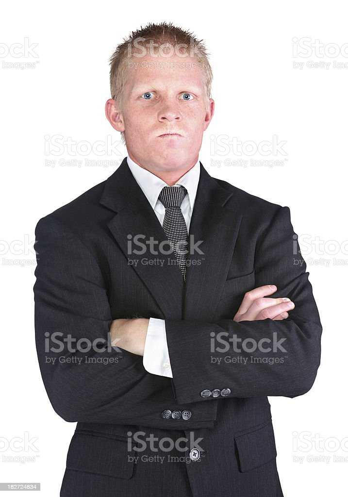 Angry young businessman royalty-free stock photo