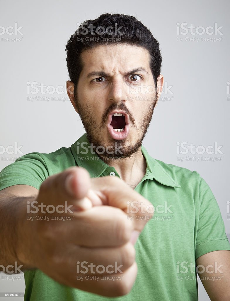 Angry young man royalty-free stock photo