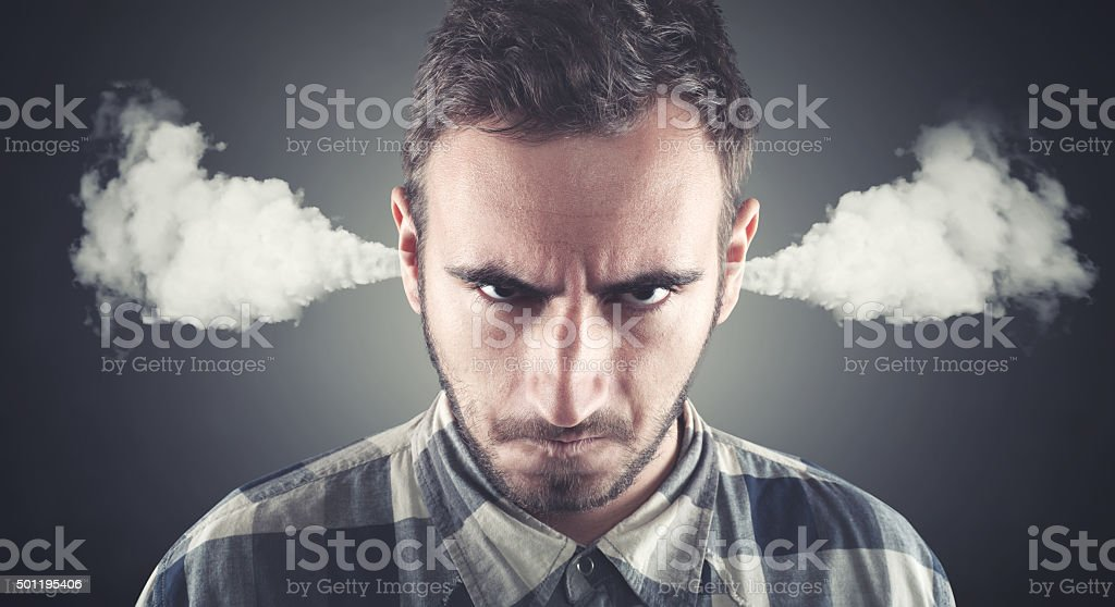 Angry young men stock photo