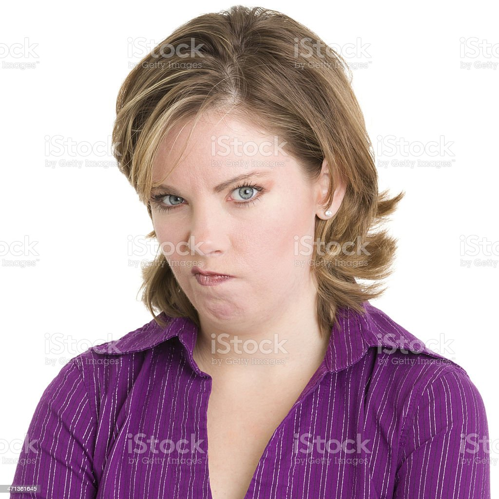 Angry Young Woman Staring royalty-free stock photo