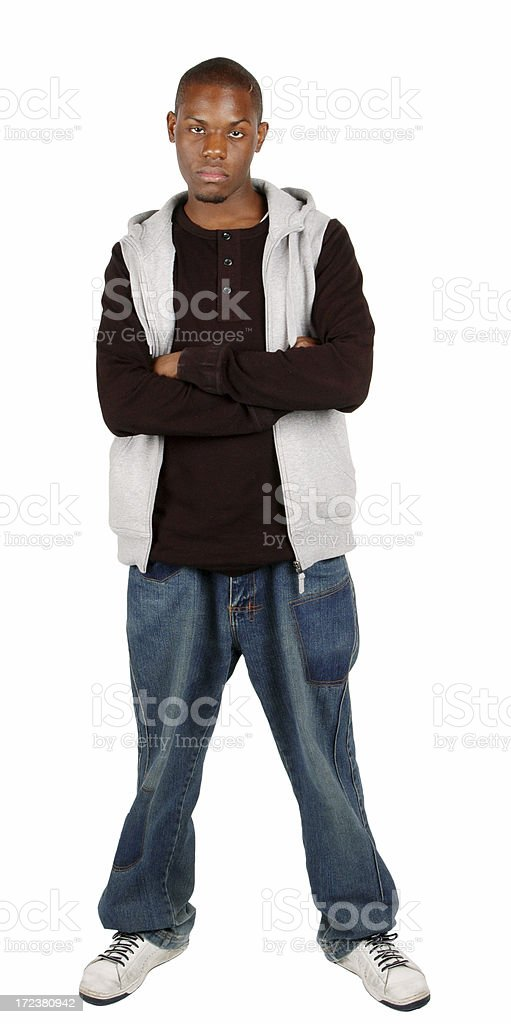 Angry Youth - Full-Body royalty-free stock photo