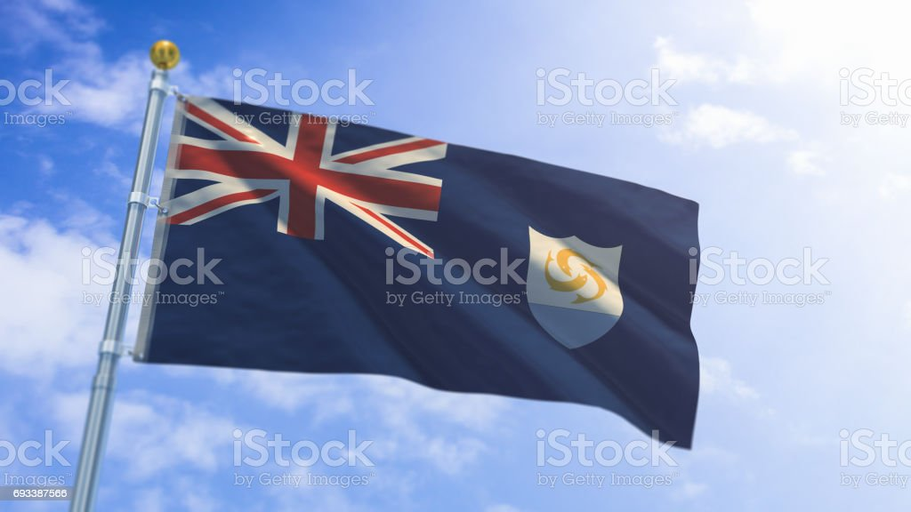 Anguilla Flag stock photo