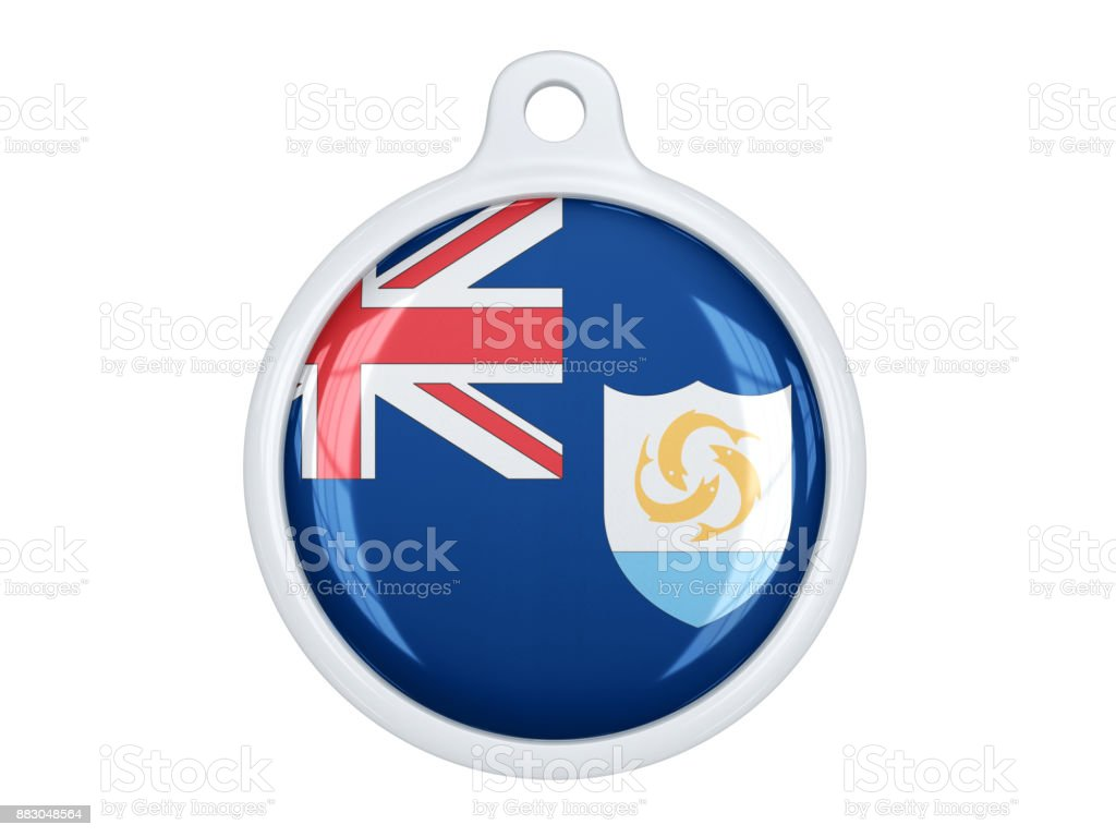 Anguilla medal stock photo