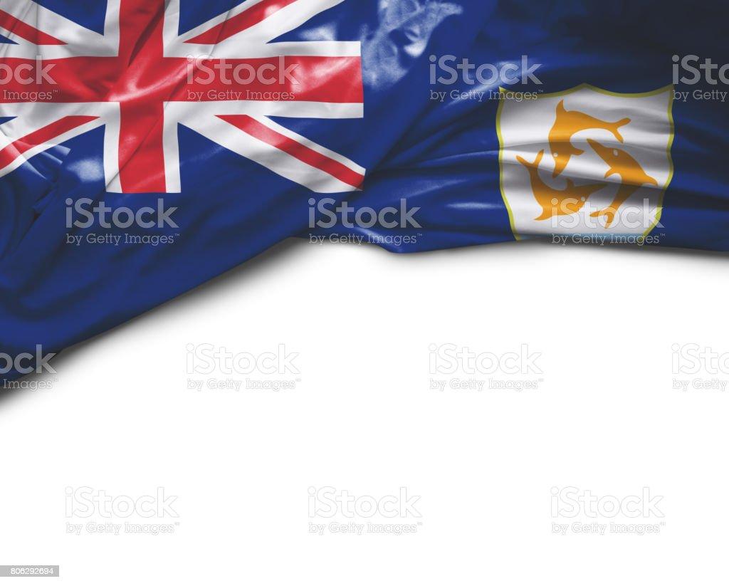 Anguilla waving flag stock photo