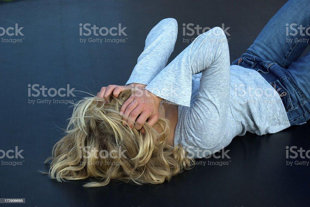 Anguish royalty-free stock photo