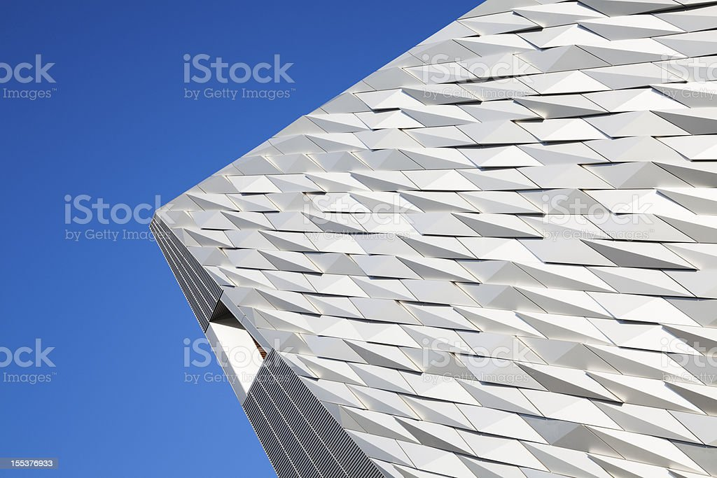 Angular Abstract View Of Building Exterior royalty-free stock photo