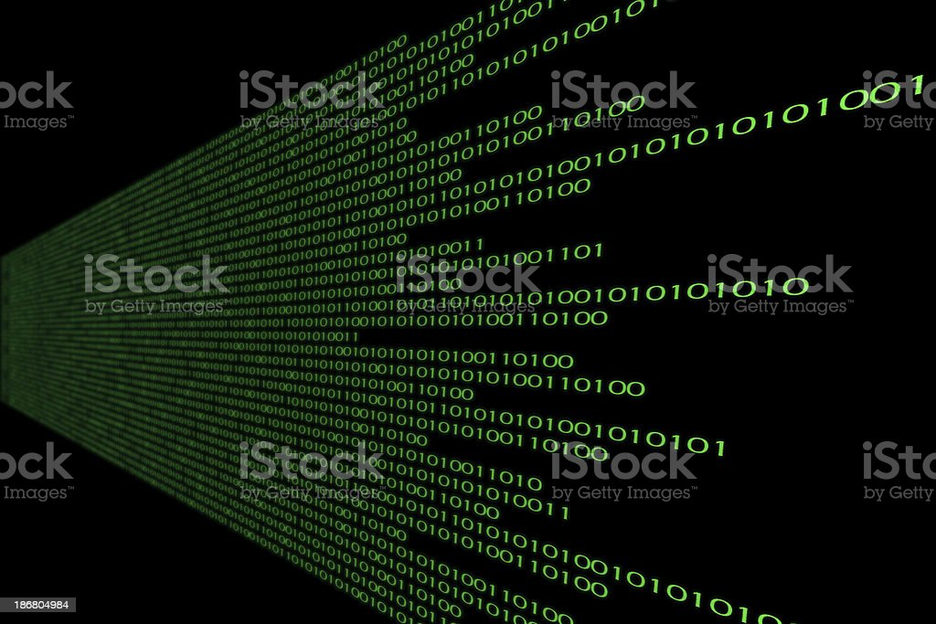 Angular Binary Fade royalty-free stock photo