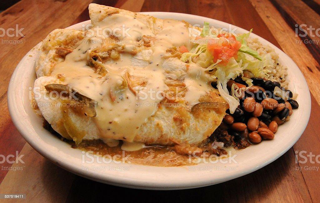 Angus Enchiladas Presented stock photo