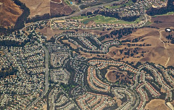 Anheim Hills Subdivision stock photo