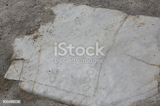 An game board on a stone  found in the ancient city of Ephesus, located in the southwest Turkey.