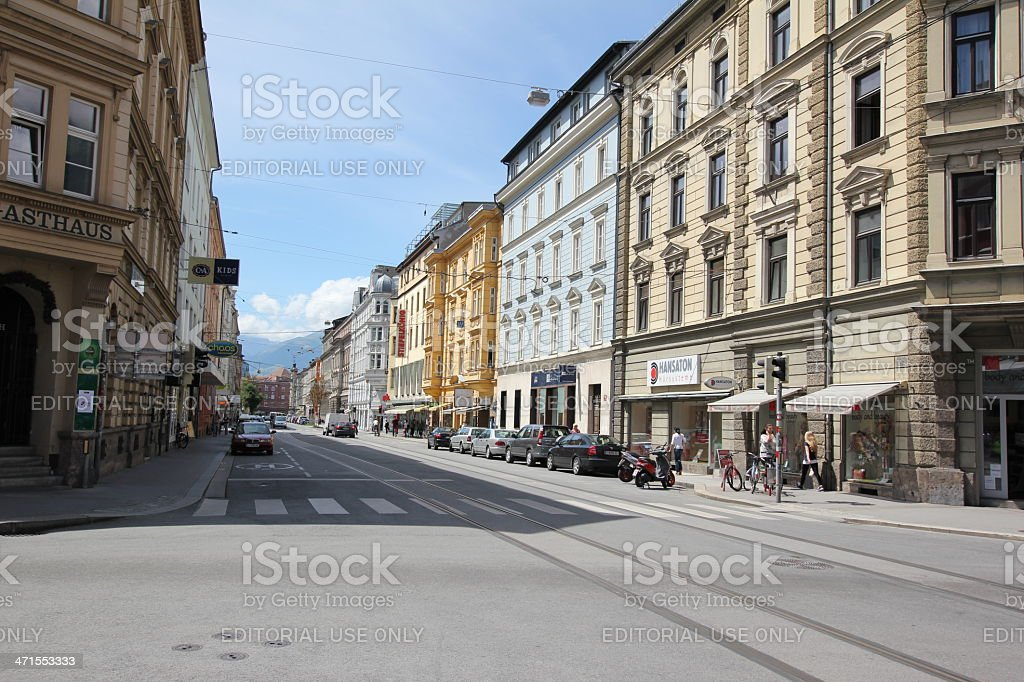 Anichstraße, Innsbruck, Tirol, Austria stock photo