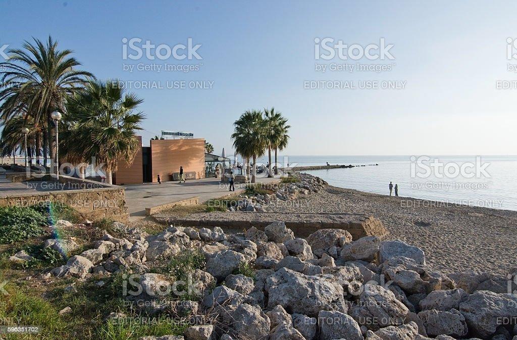 Anima beach seaside restaurant royalty-free stock photo