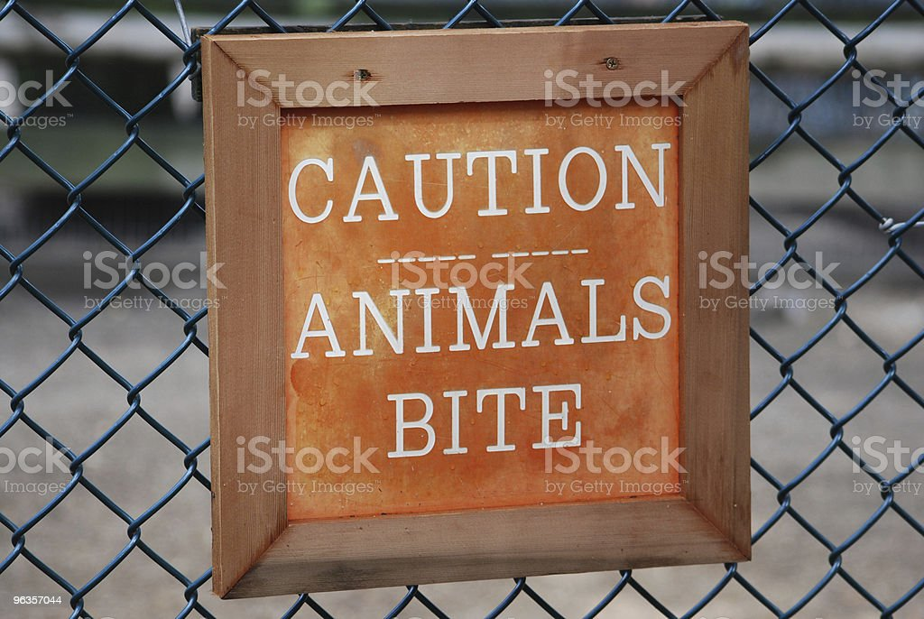 Animal Caution Sign royalty-free stock photo