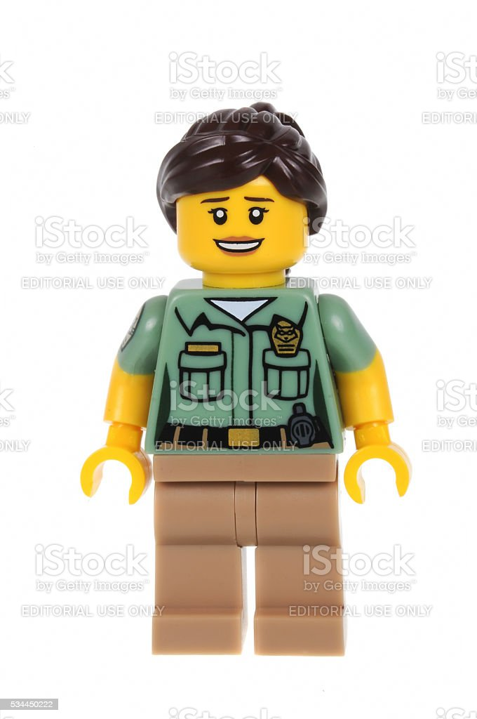 Animal Control Officer Lego Series 15 Minifigure stock photo
