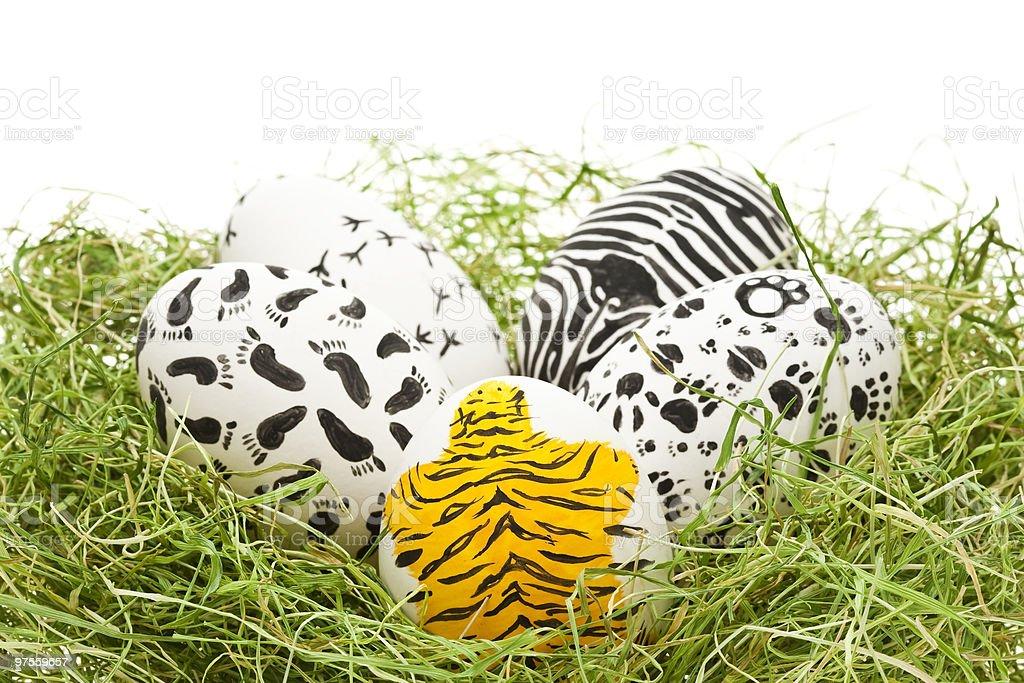 Animaux oeufs de Pâques photo libre de droits
