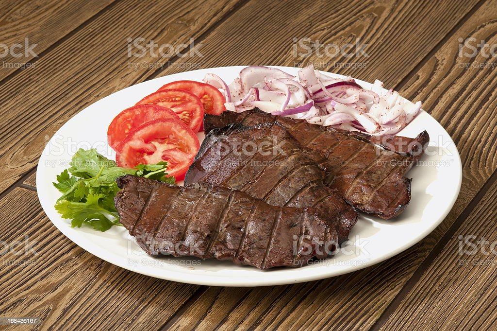 Animal Liver stock photo