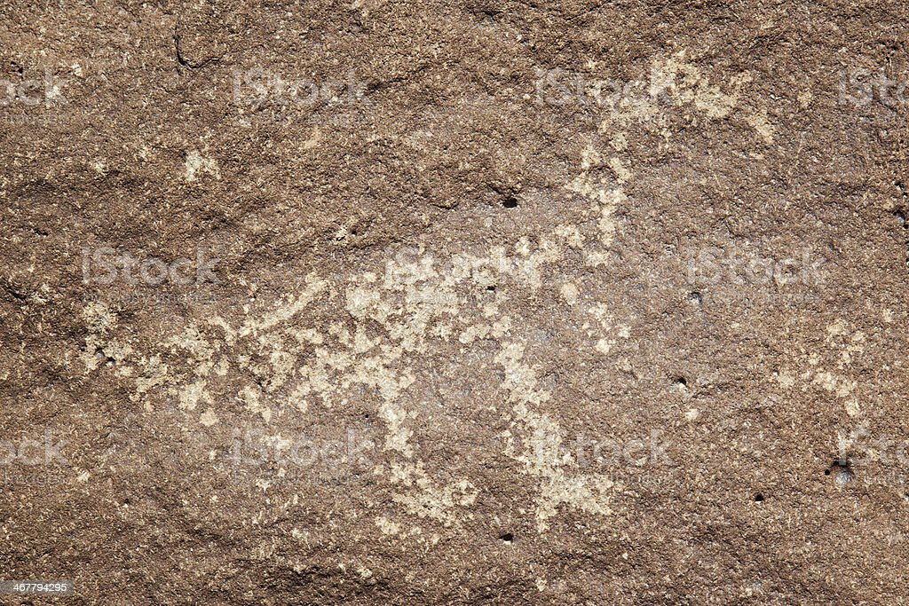 Animal Pictogram - Petroglyph National Monument royalty-free stock photo