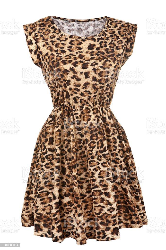 Animal print dress stock photo