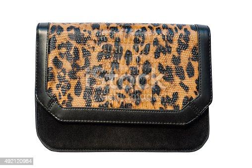 istock Animal print fashion hand bag 492120984