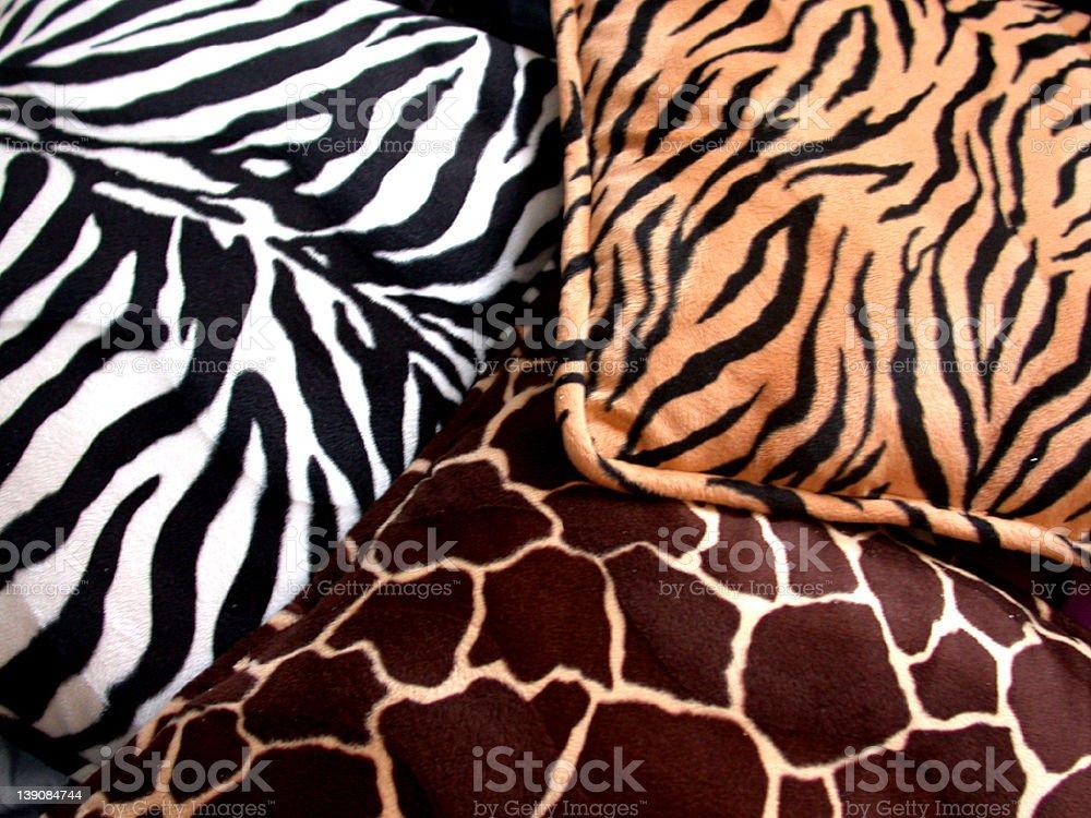 animal print pillows stock photo