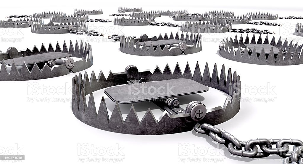 Animal Trap Collection Close stock photo