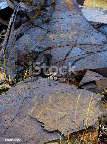 Cave pictures in Kagen region of Kazakhstan