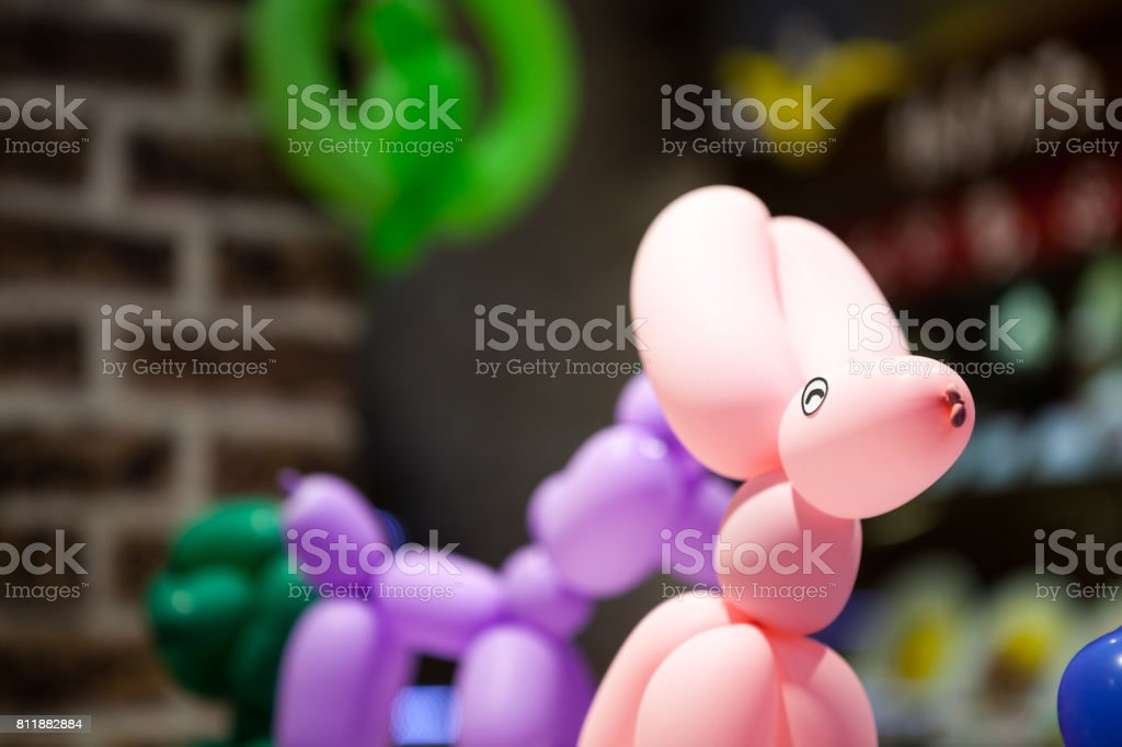 Animals made with balloons. stock photo