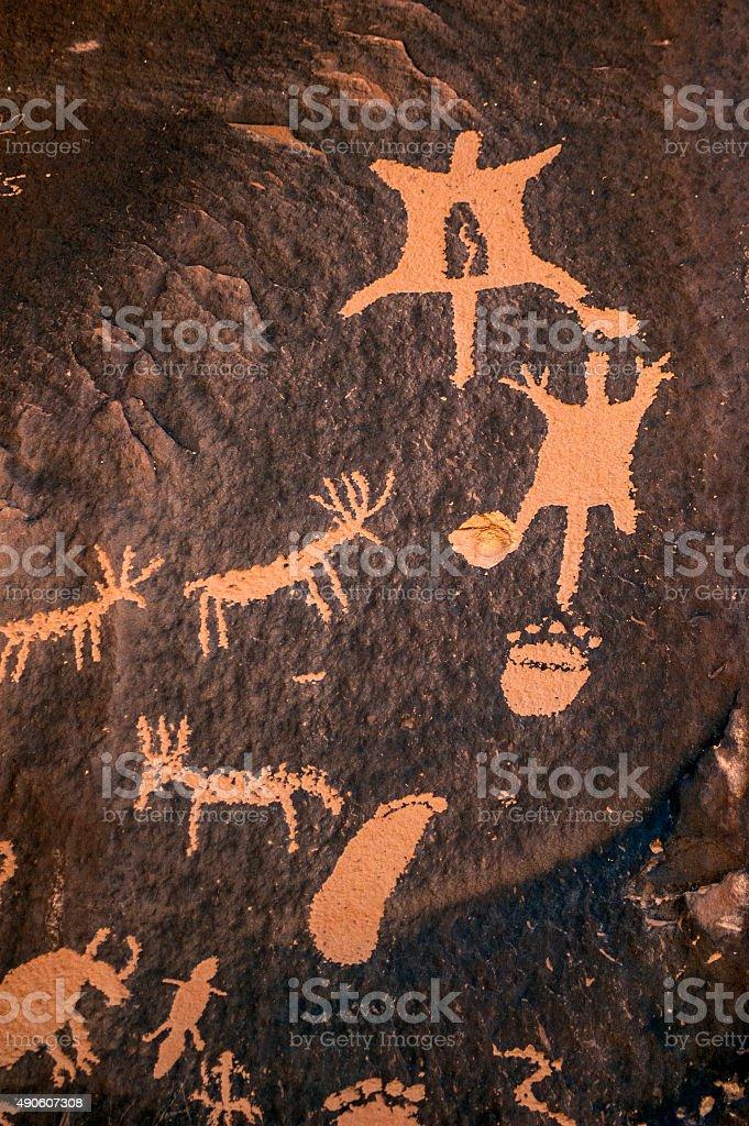 Animals on rock stock photo