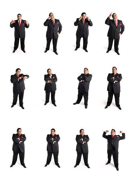 animated businessman set C stock photo