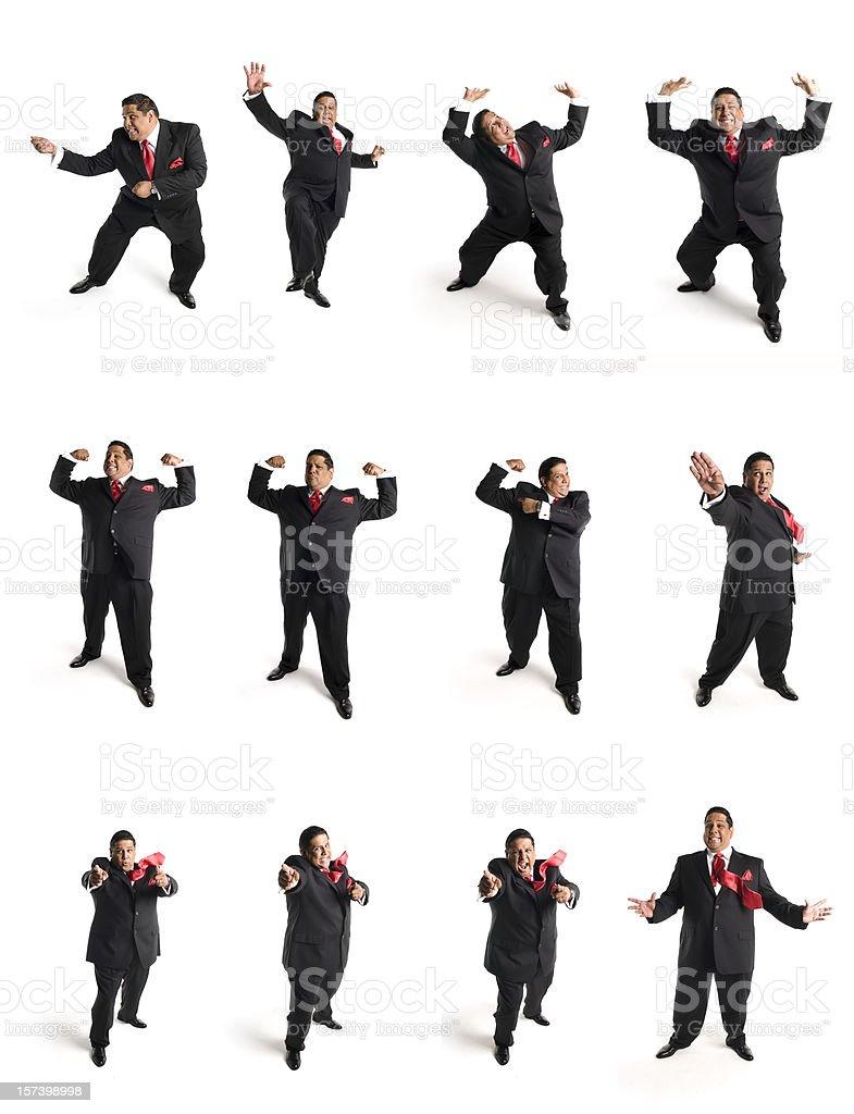 animated businessman Set D stock photo