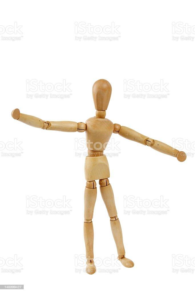 Animated dancer stock photo