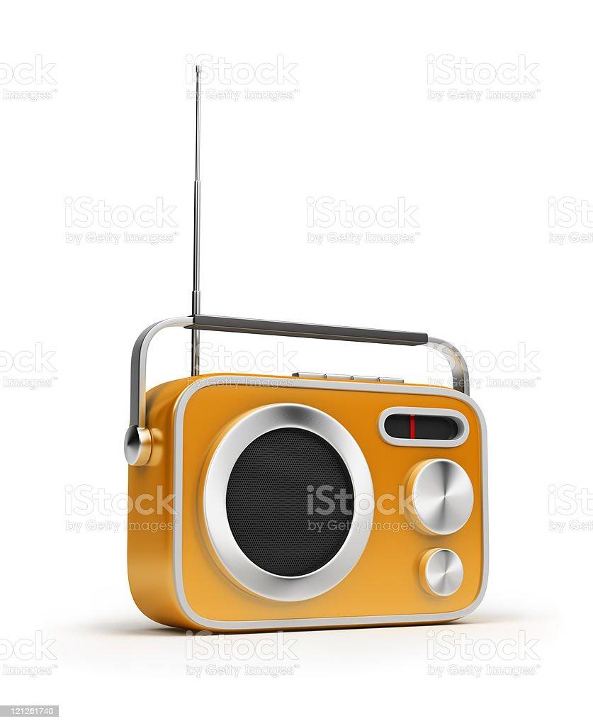 Animated photo of yellow retro radio royalty-free stock photo