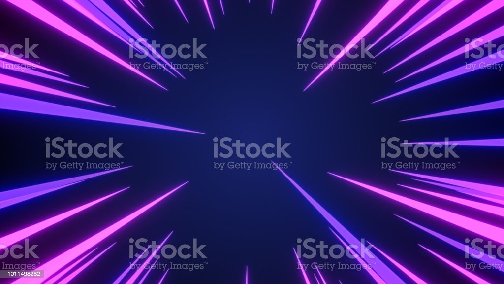 Anime background of Comic speed radial background 3d illustration stock photo