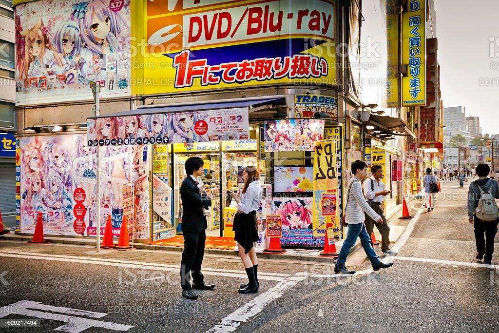 Anime store front, Akihabara, Tokyo stock photo