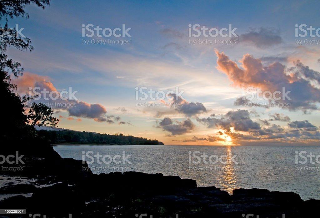 Anini Beach Sunset stock photo