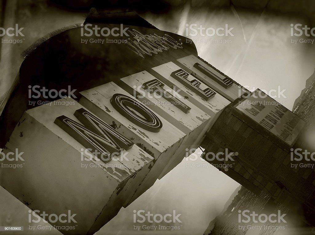 anique motel sign stock photo