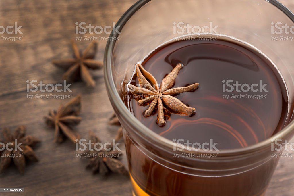Anis seed and tea stock photo
