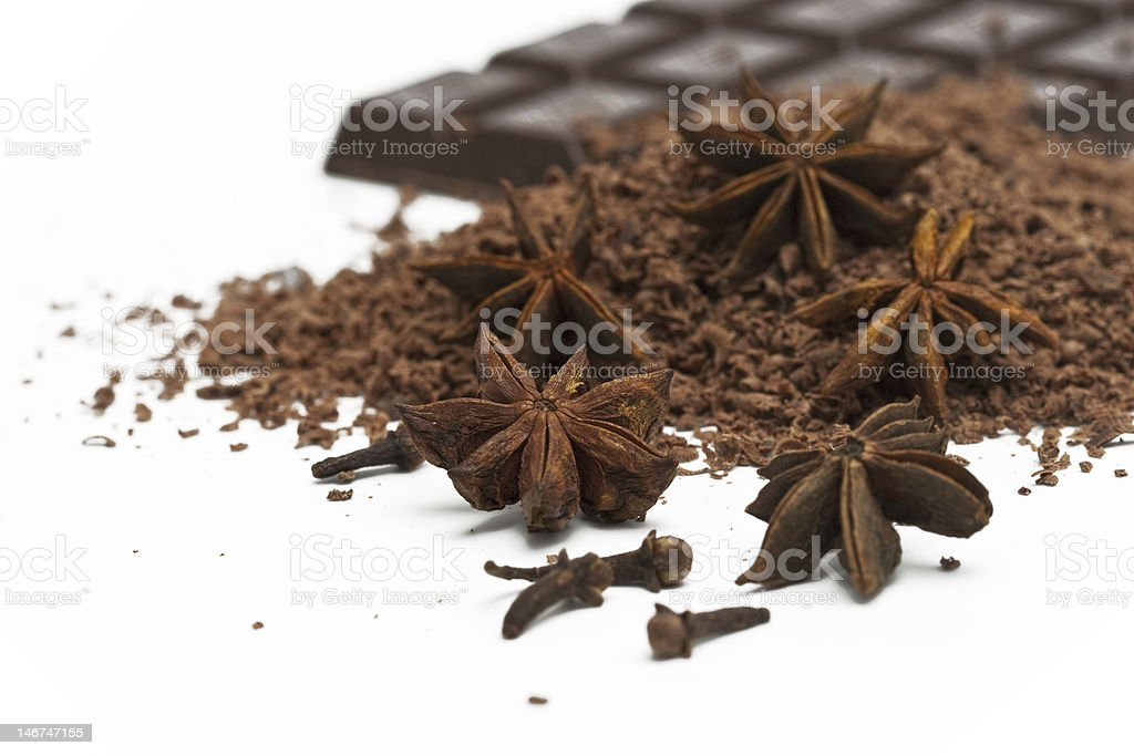 anise and chocolate royalty-free stock photo