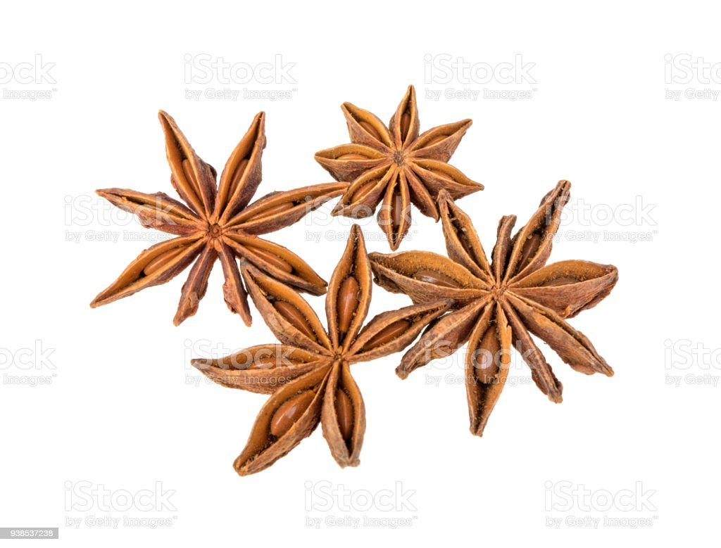 anise isolated on white background stock photo