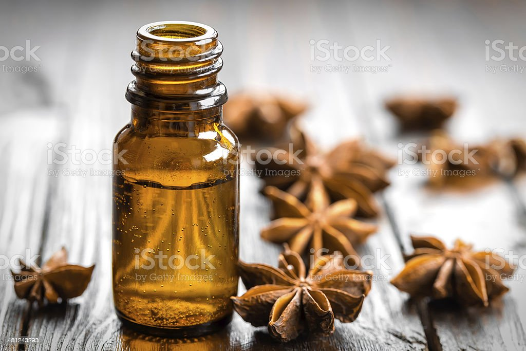 Anise oil stock photo