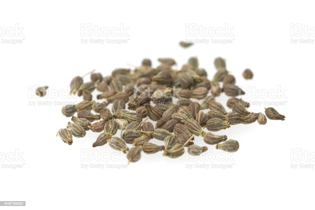 Anise; Pimpinella; anisum, seeds, grains stock photo