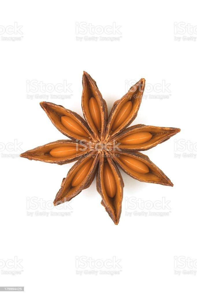Anise Seed on White stock photo