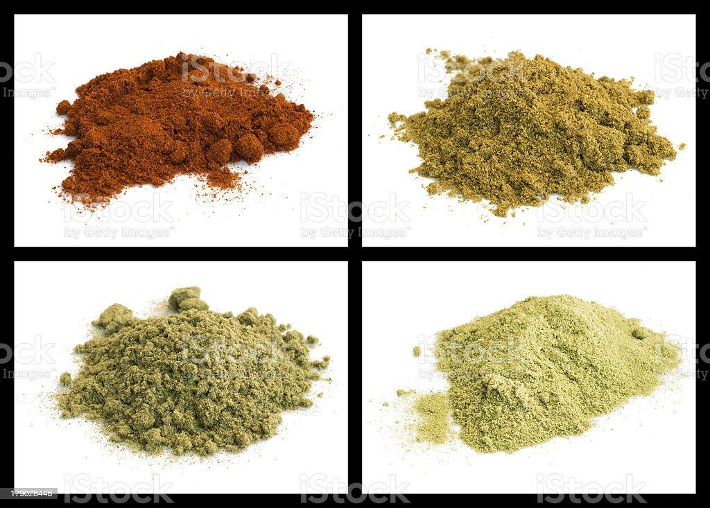 anise seed, paprika, rosemary, sage royalty-free stock photo