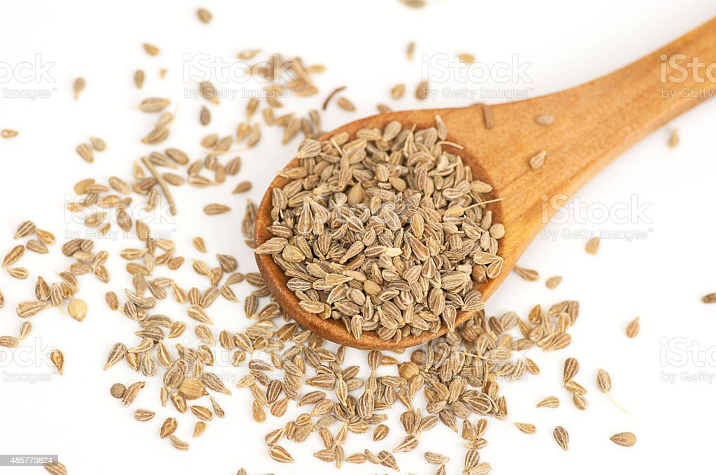 Anise seeds on white stock photo